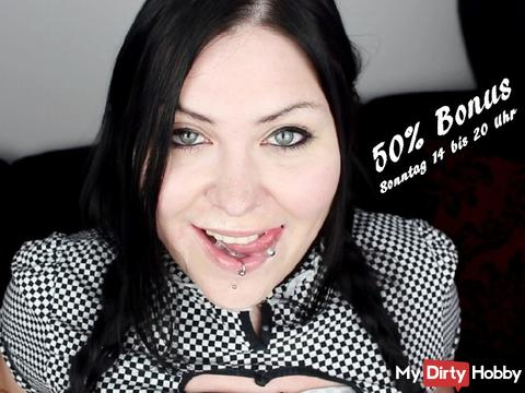 Bereit zur Sonntags-Entsaftung? ;)  50% Bonus von 14 bis 20 Uhr!