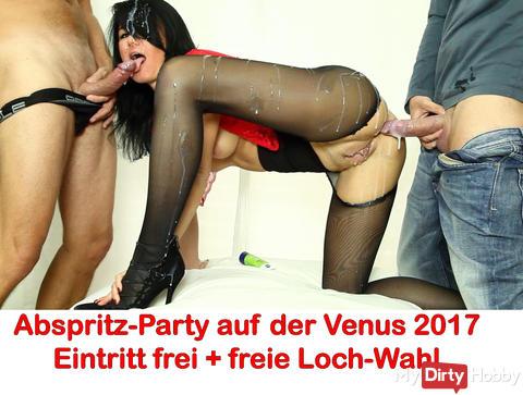 """Neues Venus Video ONLINE: """"Abspritz-Party in Clubraum der Venus-Messe 2017"""""""