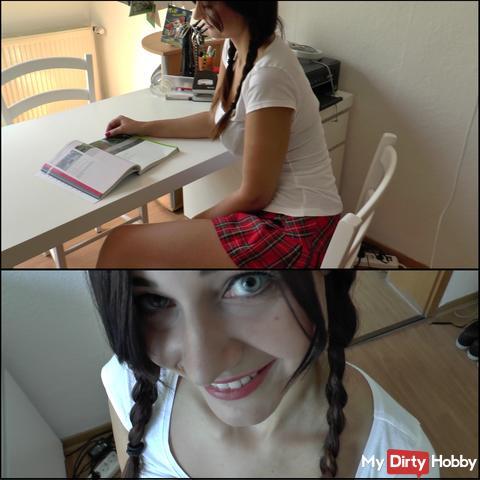 Cousin verführt mich beim Lernen+Gesichtsbesamung!!