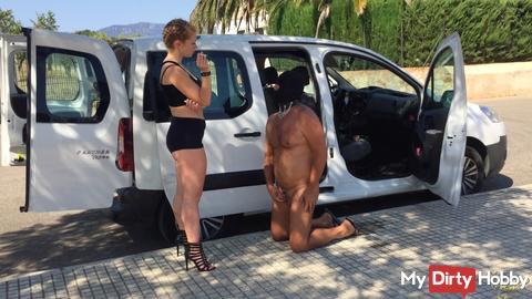 Indulged the slave an orgasm