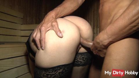 *neues Video online und Caminfo* Mister X in der Sauna gevögelt