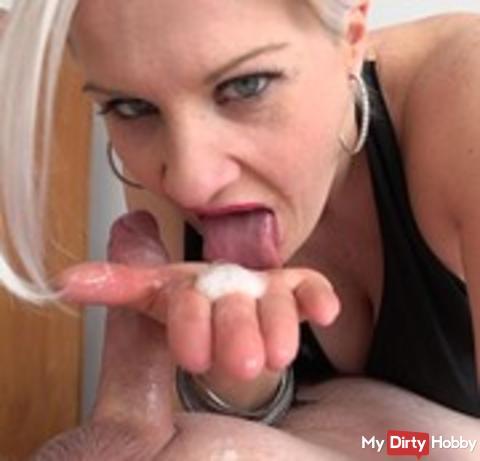 *neues Video online*  Spermasnack in der Mittagspause