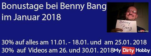 Bonustage bei Benny ba*g