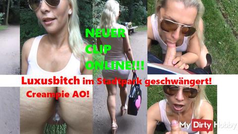 CREAMPIE SCHWANGER???? TOPVIDEO PUBLIC CREAMPIE AO VDIEO!!!!!! Luxusbitch im Stadtpark geschwängert!! Creampie AO!!!!!