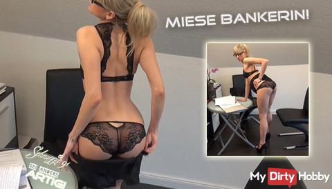 "Neues Video: ""Miese Bankerin erpresst dich!"""