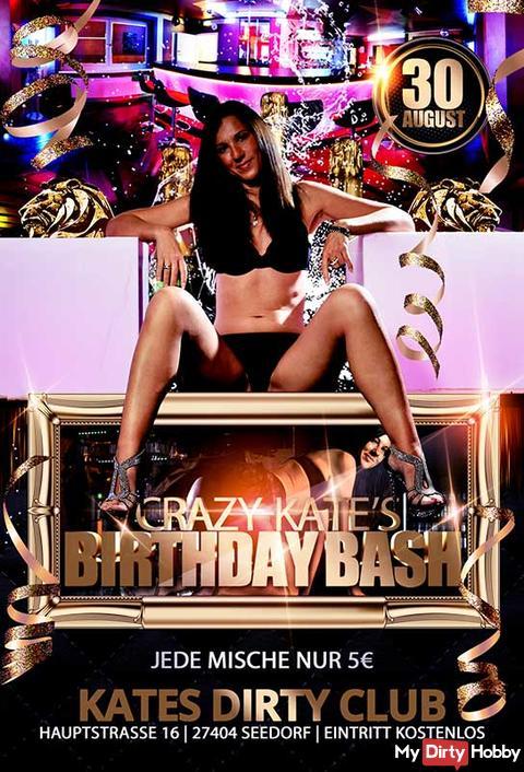 CRAZY-KATE's BIRTHDAY BASH / 30 AUGUST! KOSTENLOS!