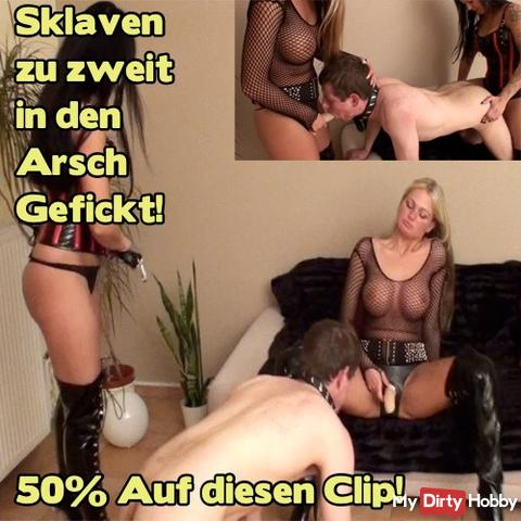 50% !! Today from midnight to midnight !! On the clip: Slave fucked in the ass for two! 50% !!