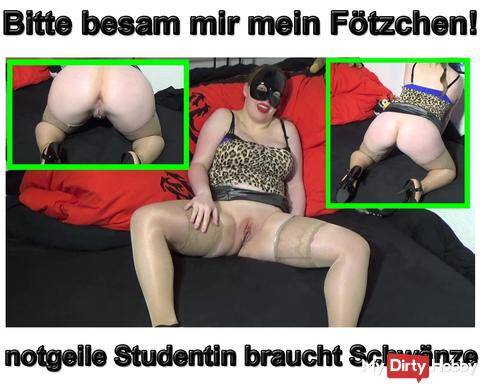 New video: Please besam me my pussy. Horny student needs cocks