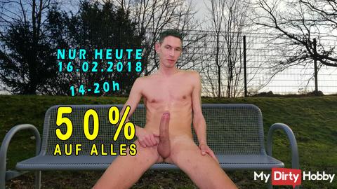 50% AUF ALLES * NUR HEUTE - 16.02.2018 von 14-20 UHR !!