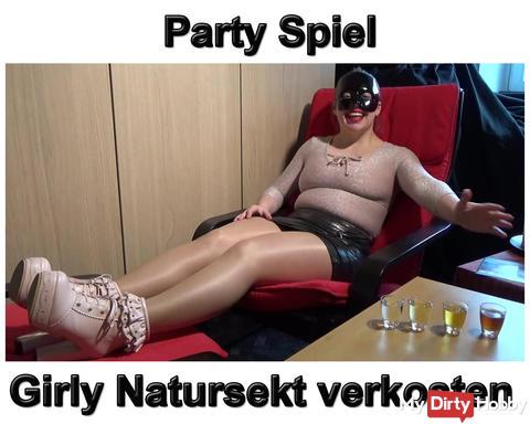 Neues Video: Party Spiel ! Girly Natursekt Verkostung !