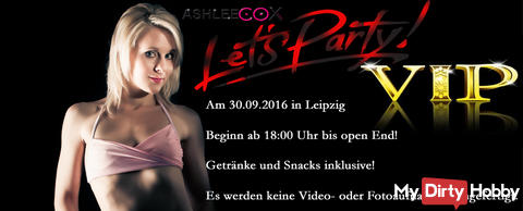VIP Party am 30.9.16 in Leipzig
