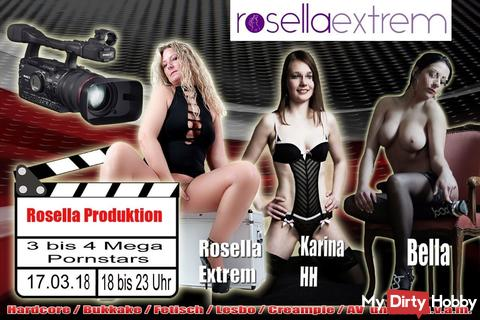 Mega Porno-Film-Produktion, mit 3 versauten Top-Girls, am 17.03.18!