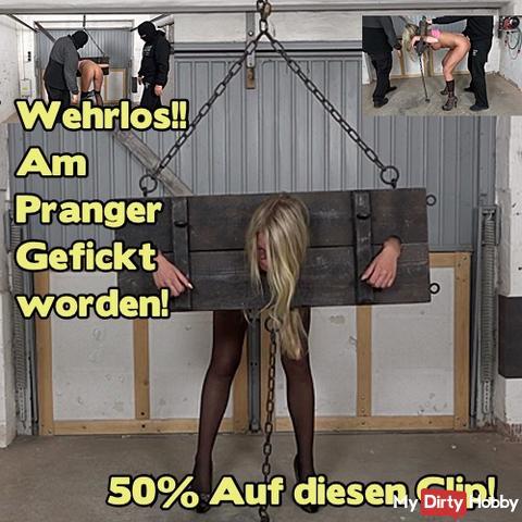50% Clip Aktion!! Heute von 0.00 Uhr bis 24.00 Uhr!! 50% auf diesen Clip: Wehrlos!! Am Pranger Gefickt worden!! 50%!!