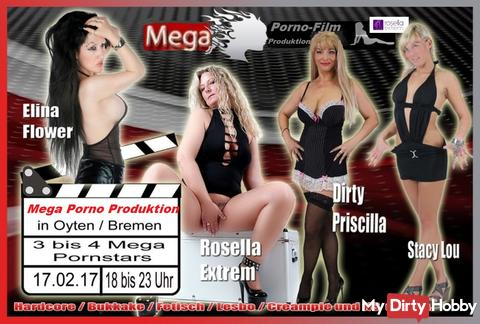 Mega Porno-Film-Produktion, mit 4 versauten Top-Girls, am 17.02.18!!!