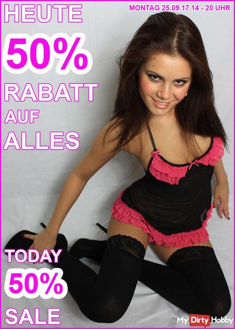 New week starts horny and cheap! With my 50% SALE MONDAY!