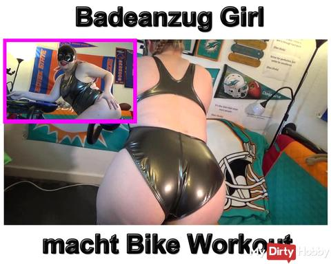 New video: Swimsuit Girl is doing awesome bike workout
