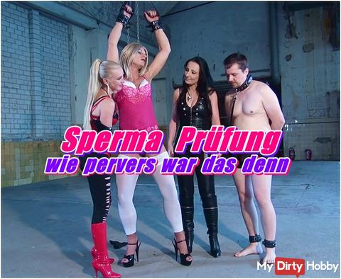 Sperm exam - how perverted was that --- my new video online now ... sparkling and mega filthy