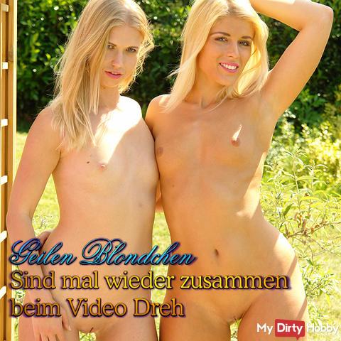 Die geilen Blondchen sind mal wieder beim Video Dreh