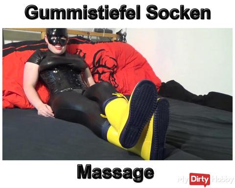Neues Video: Gummistiefel Socken Massage