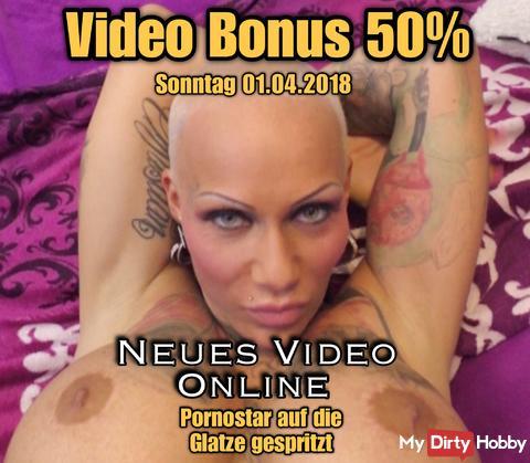 50% Videobonus und NEUES VIDEO ONLINE