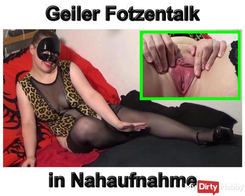 Neues Video: Teen macht geilen Fotzentalk mit Nahaufnahme