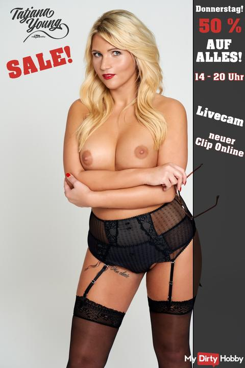 HOT THURSDAY! 50 % auf ALLES!