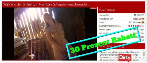 Video Sale on 03.05. and for fast buyers ..