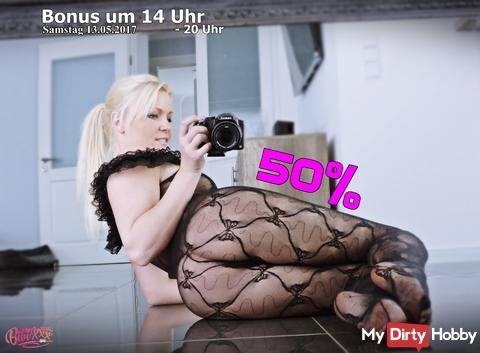 Bonus Time 50 % und ......