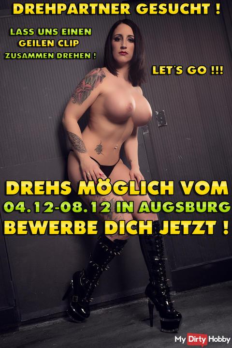 DREHPARTNER FÜR AUGSBURG GESUCHT ! 04.12 - 08.12.2017 !!! JETZT GLEICH BEWERBEN !!! ICH FREU MICH AUF DICH KNUTSCH KNUTSCH*