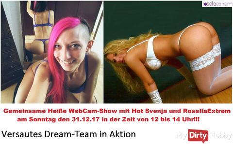 Heiße gemeinsame WebCam-Show mit Hot Svenja und RosellaExtrem!!!