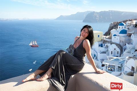 Sunny greetings from Santorini
