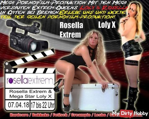 Extreme Porno-Film-Produktion, mit Loly X und RosellaExtrem am 07.04.18 bei Bremen!