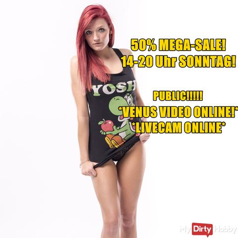 50% MEGA SALE! 14-20 UHR! NEUES VIDEO!