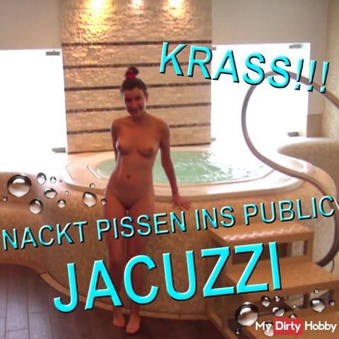 NAKED PISS IN PUBLIC JACUZZI