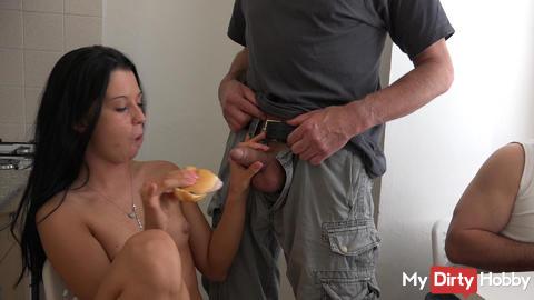 3 cocks for 2 girlies