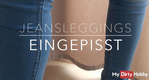 Jeansleggings - EINGEPISST