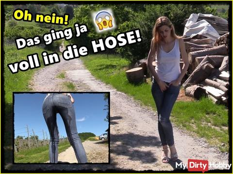 OMG! Pissing in the jeans!