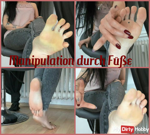 Manipulation by feet