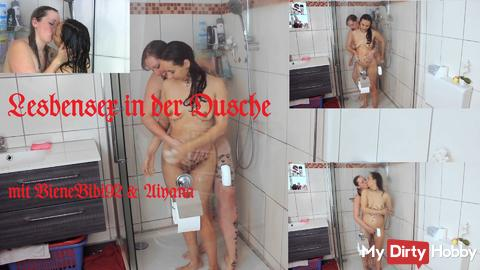 Lesbian Sex in the shower