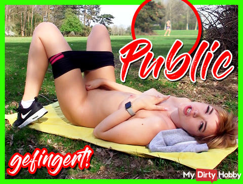 PUBLIC - Fingered in a park!