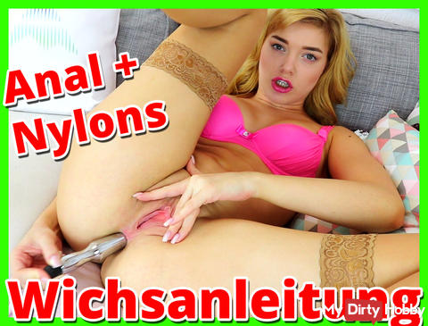ANAL AND NYLONS - hot Jerk Off Instructions for you!