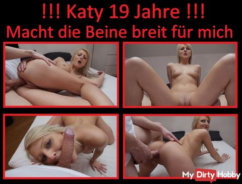 Girl 023 / Katy 19 years !!! Spreads her legs for a creampie