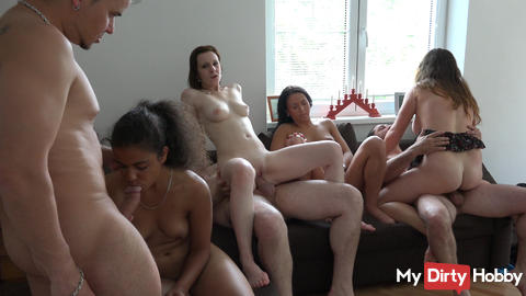 4 Girls + 3 Boys - Teeny Orgie