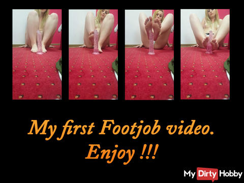 My first footjob video, enjoy !
