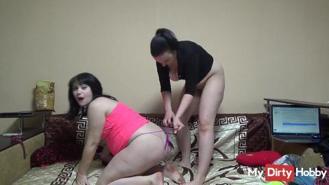 Wedgies fight till both panties torn!