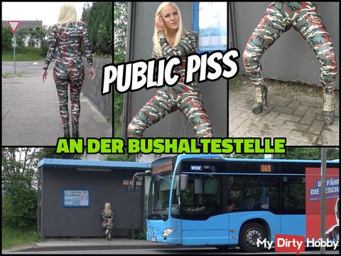 PUBLIC PISS | Stop in the hauengen fuck suit wet pissed