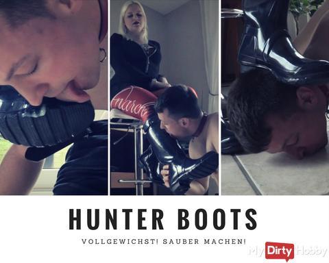 Hunter Boots vollgewichst!