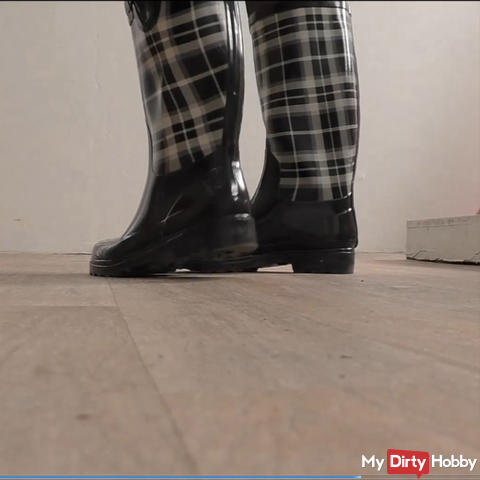 Rubber boots Teasing