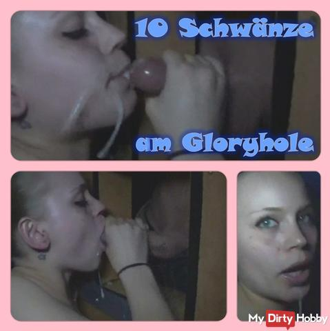 Gloryhole-Slut - Sucked 10 dicks for cum