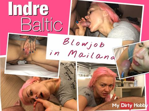 Hot start in the holidays ... Blowjob in the Milan-Hotel